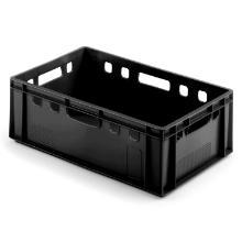 Plastkasse E-2 600x400x200 mm HDPE Sort product photo