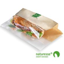 Sandwichpose 230x140x30 mm Bionedbrydelig Plast Brun/Klar product photo