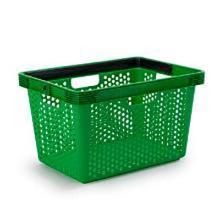 Indkøbskurv 24.5x44x28 cm Grøn product photo