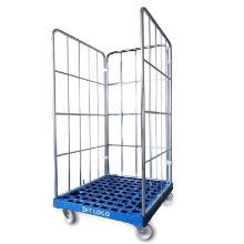 Rullebur Catering 77.5x81.6x155 cm Plast/Elgalvaniseret stål Sort product photo