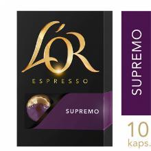 Kaffekapsel L'OR Espresso SUPREMO Styrke 10 product photo