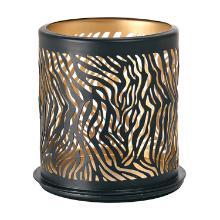 Lysestage Duni 75x75 mm Safari Zebra metal Sort product photo