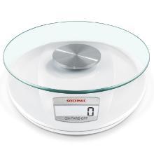 Køkkenvægt Soehnle Roma 15x18.3x3.5cm 1 grams interval Hvid og glas product photo