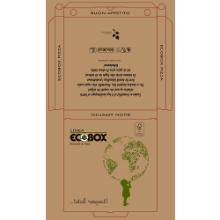 Pizzaæske 30x30x3 cm FSC-mærket KSK 100% nye fibre Ecobox Globo Brun product photo