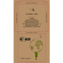 Pizzaæske 40x40x3 cm FSC-mærket KSK 100% nye fibre Ecobox Globo Brun product photo