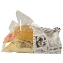 Sandwichpose Old News 215x130 mm PE Snack Bag Large product photo