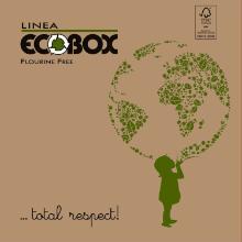 Pizzaæske 24x24x3 cm FSC-mærket KSK 100% nye fibre Ecobox Globo Brun product photo