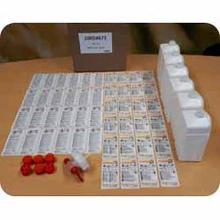Sæt til hånddesinfektion Skinman 6 stk m/ 1 ltr flasker etiketter og taphane product photo