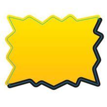 Etiket 45x34mm stjerne DT t/til tryk gul/sort permanent lim Ø40 product photo