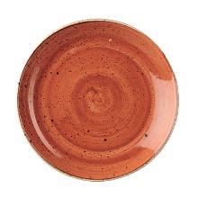 Tallerken Coupe Stonecast Ø21.7 cm Porcelæn Orange product photo