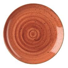 Tallerken Coupe Stonecast Ø26 cm Porcelæn Orange product photo