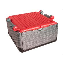 Termokasse Flip-Box 23 ltr 400x400x220 mm med låg EPP Grå/Rød product photo