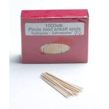 Tandstik 80 mm Spids i begge ender Løs i Æske Træ product photo