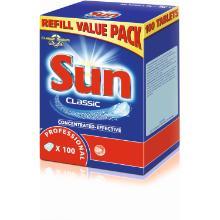 Maskinopvask tabs Sun Professional Classic uden Klor Enkeltindpakket product photo