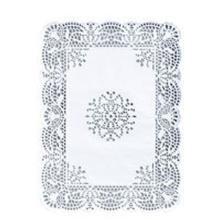 Fadpapir 30x40 cm Firkantet Udstanset kant Hvid product photo