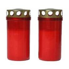 Gravlys Brændetid 45 timer med Låg Plast Rød product photo
