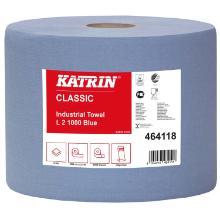 Aftørringsrulle Katrin Classic Industrirulle 2-lag 22 cm x380 m Blå product photo