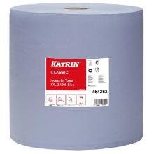 Aftørringsrulle Katrin Classic Industrirulle 3-lag 38 cm x380 m Blå product photo