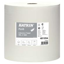 Aftørringsrulle Katrin Plus XXL Industri 4-lag 38 cm x360 m Hvid product photo