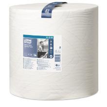 Aftørringsrulle Tork Kraftig Industri W1 2-lag 36.9 cm x340 m Hvid product photo
