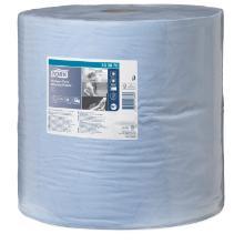 Aftørringsrulle Tork Kraftig Industri W1 2-lag 36.9 cm x340 m Blå product photo