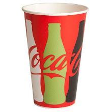 Papbæger 40 cl Coca Cola Ø90x130 mm Kolddriksbæger product photo