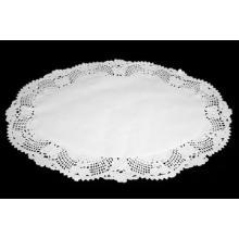 Kagepapir 23x31 cm oval udstanset hvid product photo