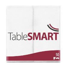 Serviet TableSMART airlaid 40x40 cm 1/8 fold Hvid product photo