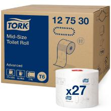 Toiletpapir Tork Advanced T6 Mid-size 2-lag 100 m Hvid product photo