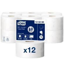 Toiletpapir Tork Advanced T2 Jumbo Mini 2-lag 170 m product photo