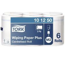 Håndklæderulle Tork Plus M2 2-lag 160 m uden Hylse Hvid product photo