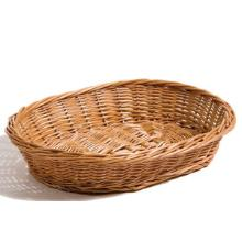 Brødkurv 35x28x7 cm Håndlavet flet Brun product photo