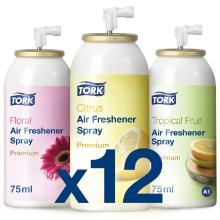 Duftfrisker Tork A1 Airfreshener Assorteret 12 styk á 75 ml product photo