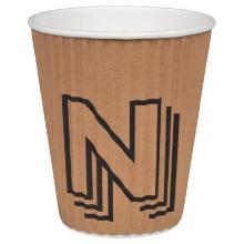 Kaffebæger Pap 30 cl/12 oz Ripple Wall Natur med Logo Julian Natmus N product photo
