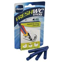 Toiletfrisker fast Domestos WC sticks Ocean Fresh med Parfume t IFÖ WC 5 stk Blå product photo