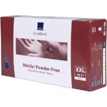 Handske Engangs Nitril XXL 10-11 uden Pudder Blå product photo