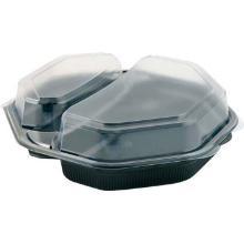 Mealbox 2-rum 230x230x60 mm med Låg Sort/Klar product photo