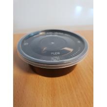 Mikroform Rund 250 ml 10x42 mm 10 oz Inkl låg Sort product photo