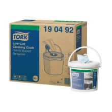 Aftørringsrulle Tork Sensitiv 160x300 cm 60 m W10 Rl i spand Turkis product photo