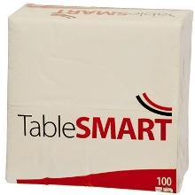 Serviet TableSMART 400x400 mm 3-lag 1/8 falset Topfalset Hvid product photo