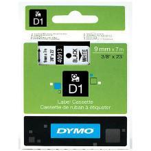 Dymo Tape 9 mm Sort på Hvid product photo