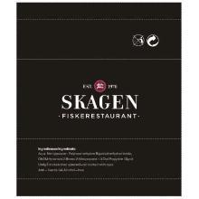 Vådserviet Pure Logotryk Sort med Rød + Hvid Skagens Fisk product photo