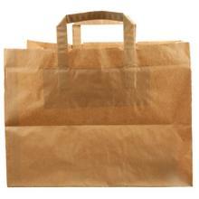 Bærepose 41 ltr 360x315x360 mm 110 gr Papir med hank Take Away Brun product photo