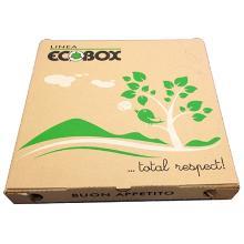 Pizzaæske 300x300x30 mm FSC-mærket Brun med Logo Ecobox product photo