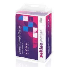 Håndklædeark Satino Prestige 2-lag 206x240x80 mm Z-fold Smalt Ark Hvid product photo
