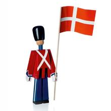 Fanebærer Kay Bojesen Lille med Tekstil flag 220 mm Malet Bøgetræ product photo