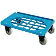 Tralle Mini Moove 600x400 mm med Gitterramme med Hjul ABS Blå product photo