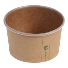 Isbæger 150 ml 5 oz Ø85x52 mm kraft pap PLA bionedbrydelig Brun product photo
