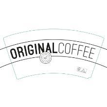 Kaffebæger 24 cl/8 oz Singlewall Bio FSC Hvid med logotryk Original Coffee product photo
