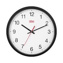 Wall clock plastic frame black product photo